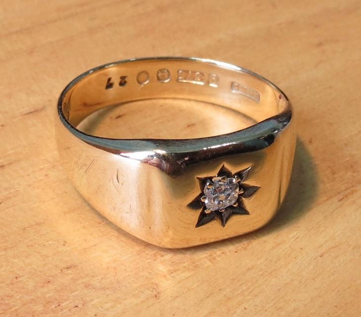 mens diamond solitaire ring design