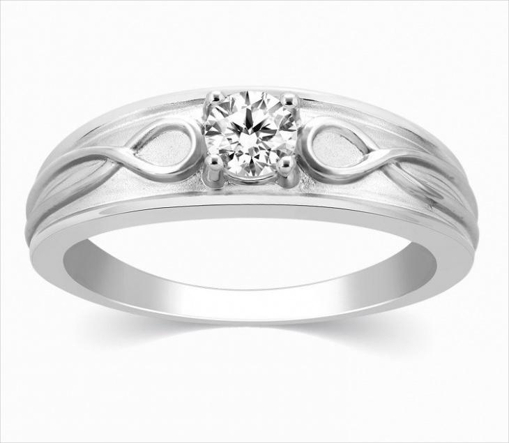 Men's Platinum Solitaire Ring