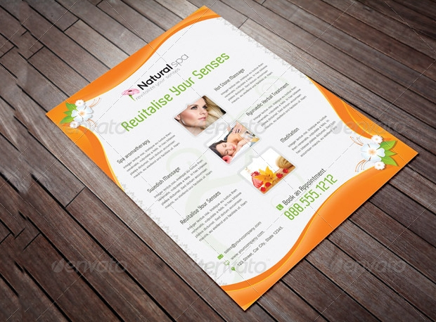 Layered Spa Marketing Flyer