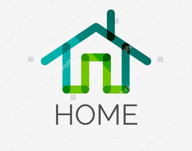 Minimal Line Home Logo