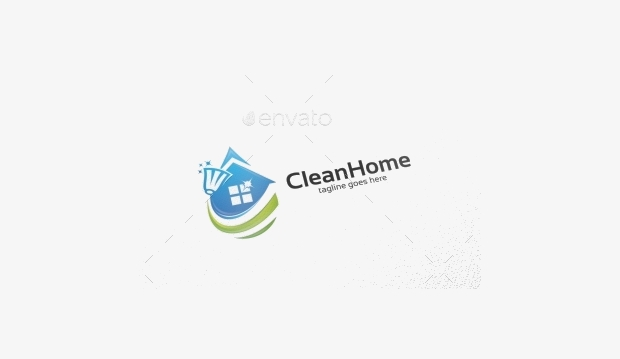 Clean Home Logo Template