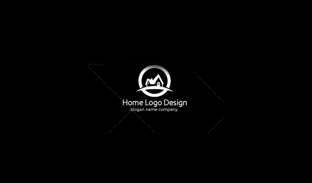 Layered Home Logo Design