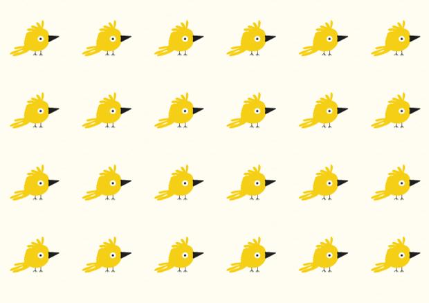 yellow baby birds pattern