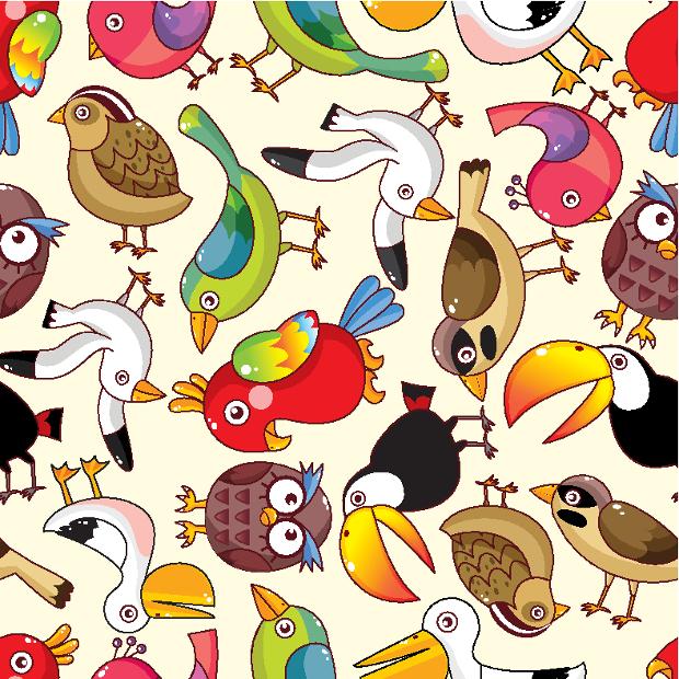 funny birds pattern