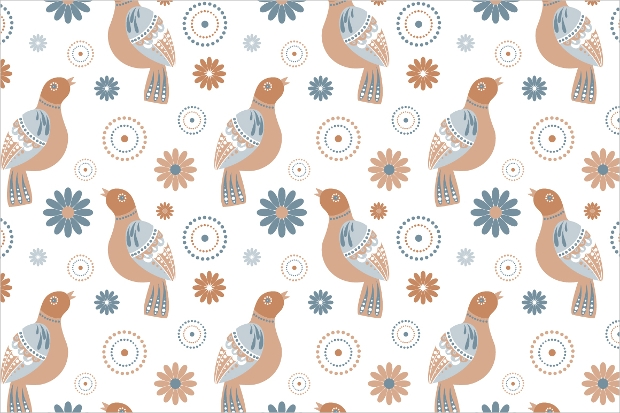 abstract birds pattern design