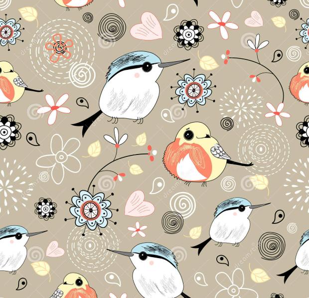 natural birds pattern