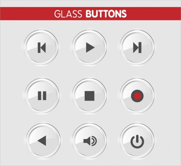 Free Round Glass Buttons