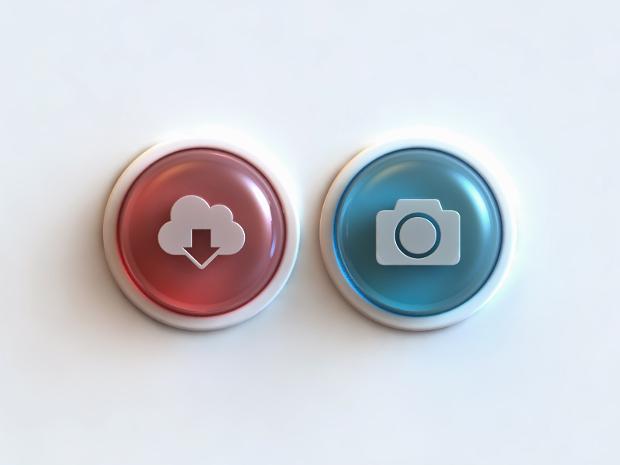 3d glass buttons