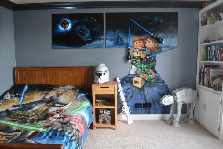 lego star wars bedroom idea