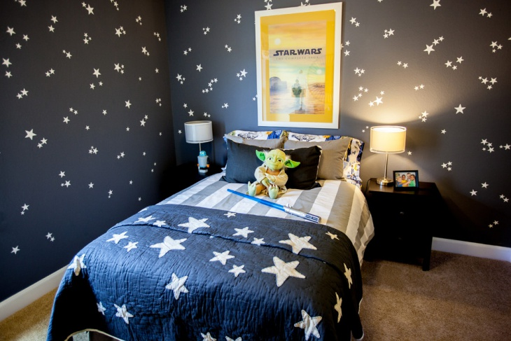 attractive star war bedroom design