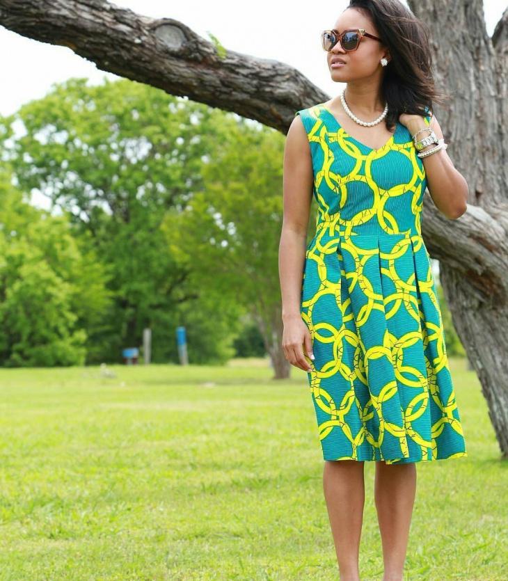 cute geometric dress design