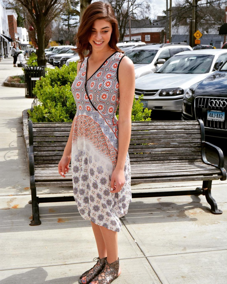 cool geometric print dress