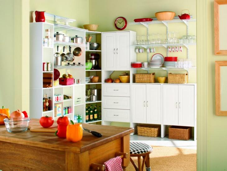 Open Kitchen Pantry Idea