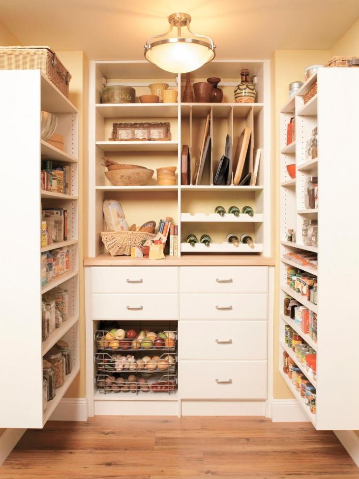 Small White Kitchen Pantry