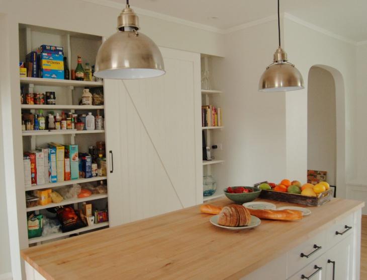 Kitchen Pantry with Barn Door Idea