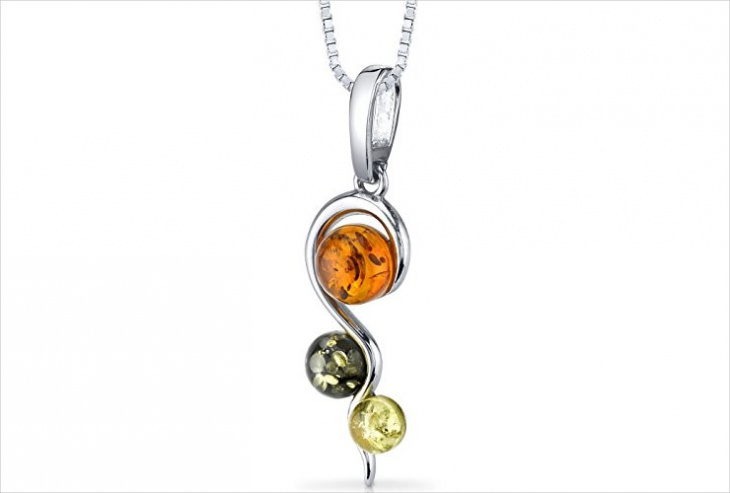 amber stone pendant