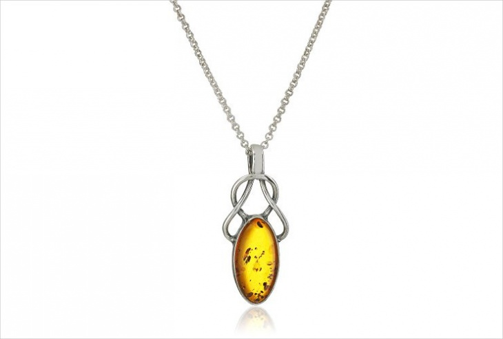 celtic amber pendant idea