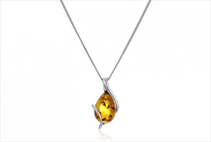 pretty amber pendant