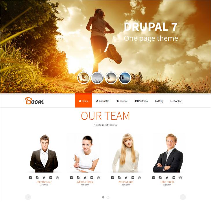 responsive onepage drupal theme