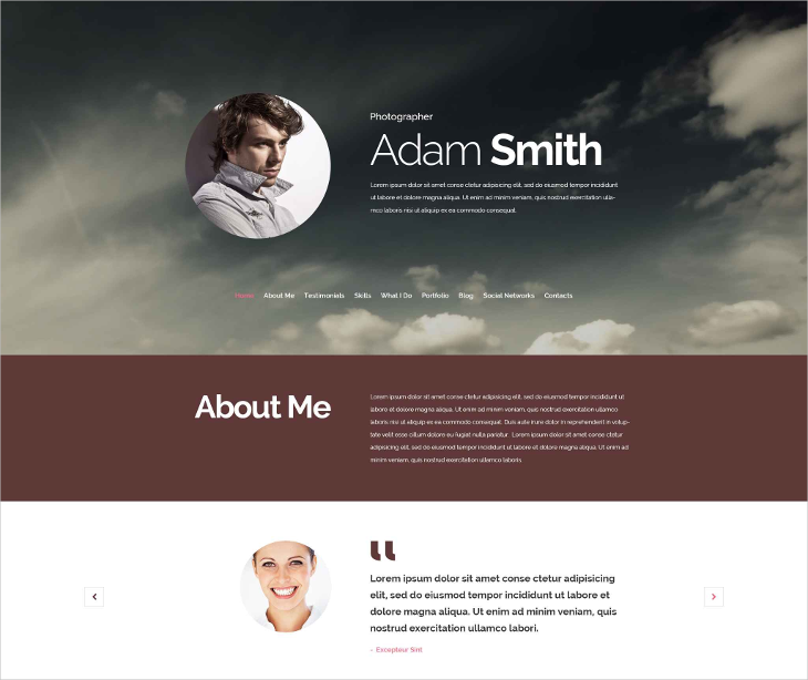 photographer drupal template