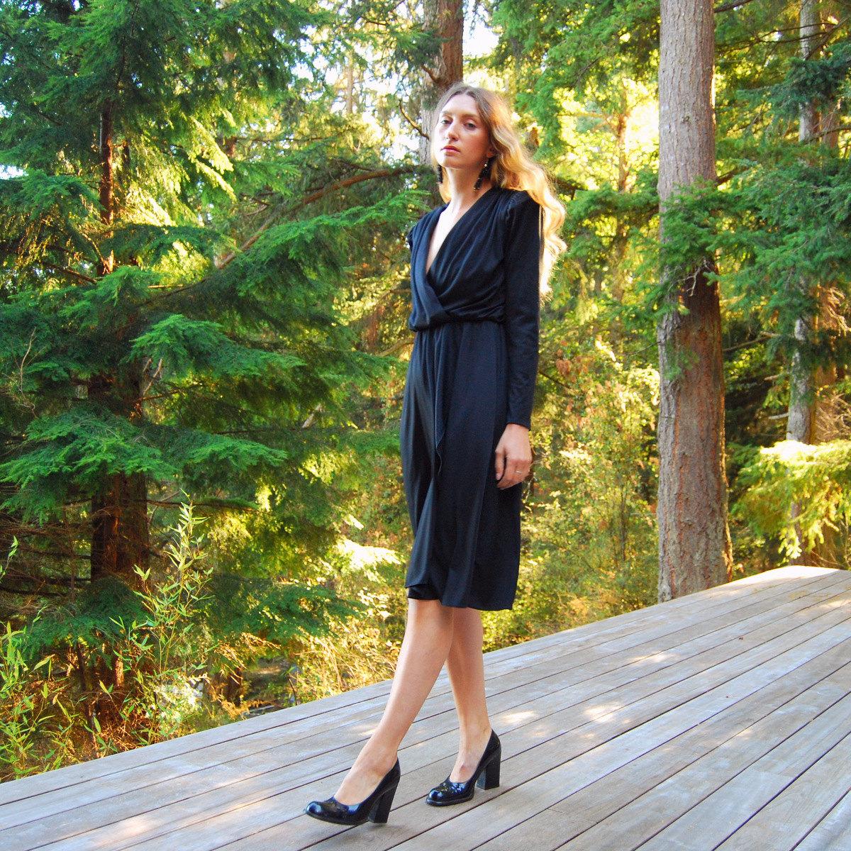 long sleeve pleated dress1