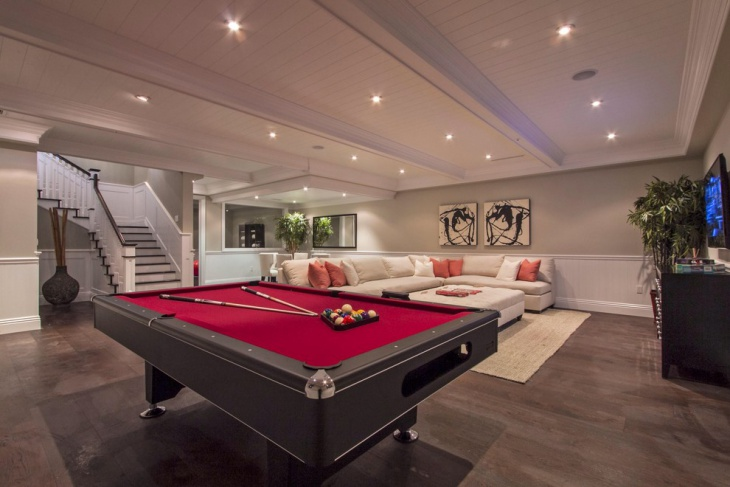 contemporary basement ceiling idea