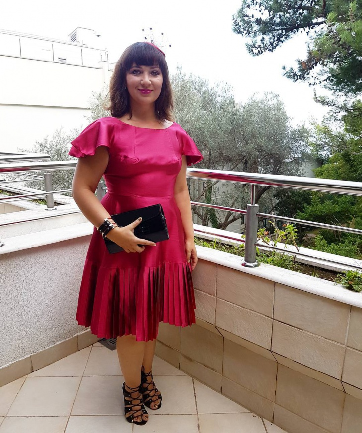 silk pleated dress design