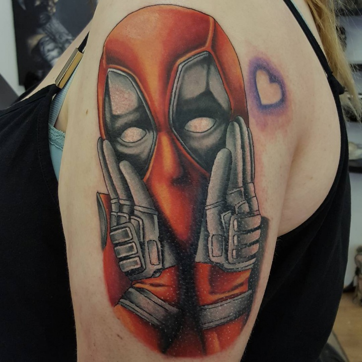 21 deadpool tattoo designs ideas design trends for Marvel sleeve tattoo black and white