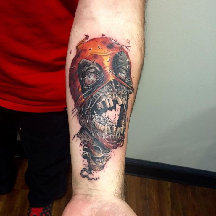 deadpool wrist tattoo idea