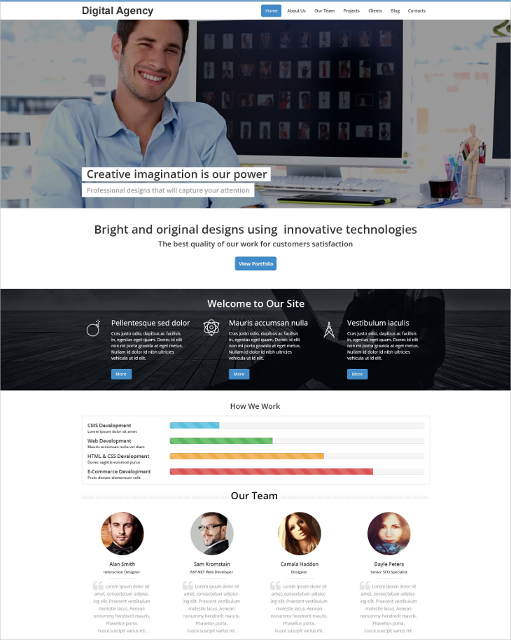 digital agency onepage drupal template