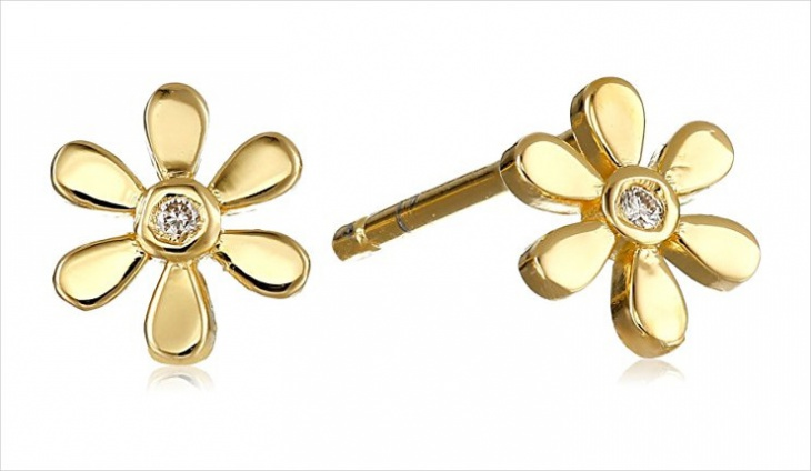 Diamond Daisy Earrings