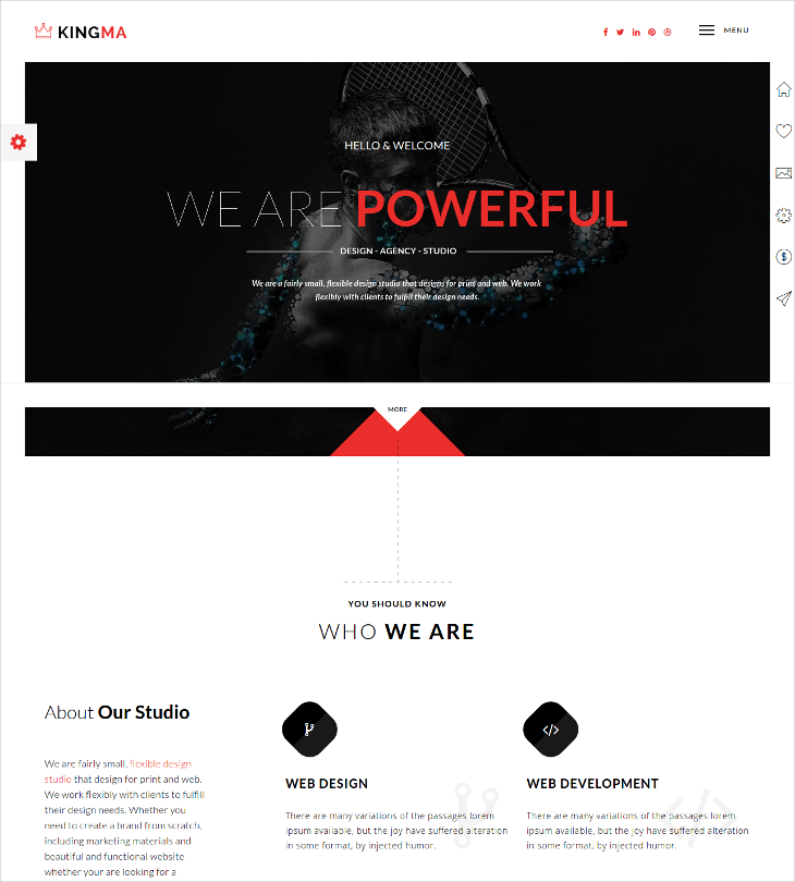 business onepage drupal theme