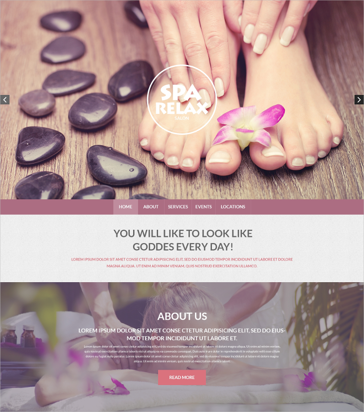 spa accessories responsive onepage drupal template
