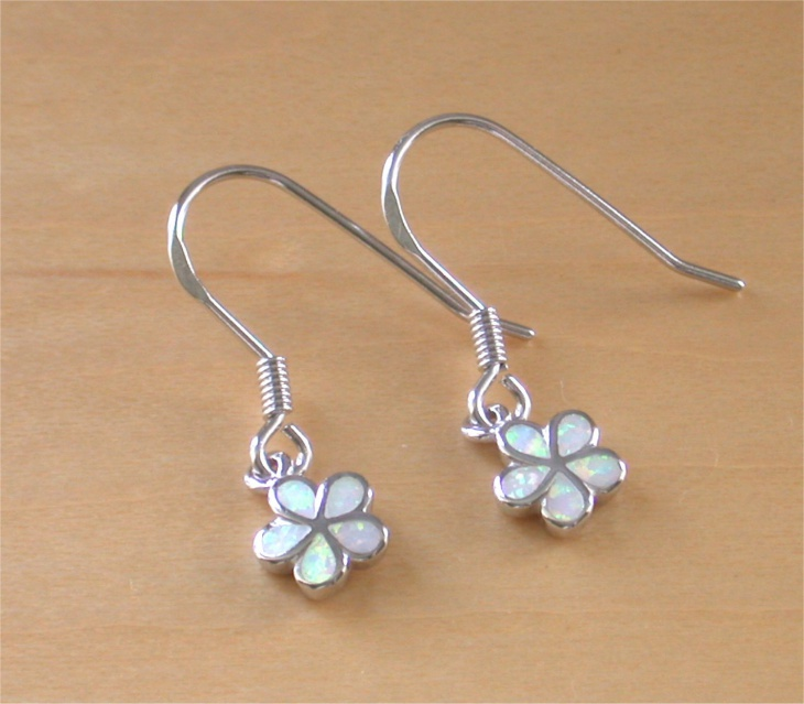 Opal Daisy Earrings Idea
