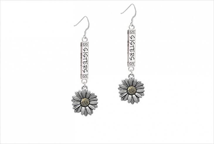 Simple Daisy Earrings Idea