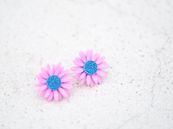 Pretty Daisy Earrings Design