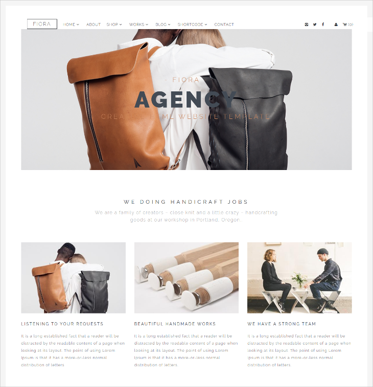 Multipage & Onepage Drupal theme