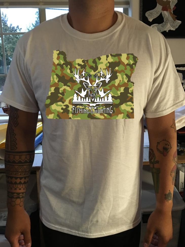 Hunting Camo T Shirt
