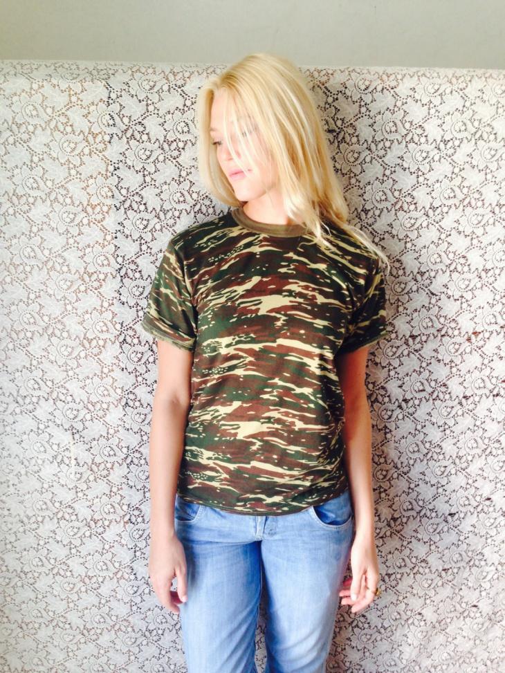 Camo Army T Shirt Design