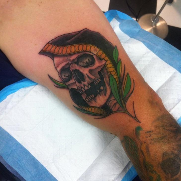 skull tattoo design for men