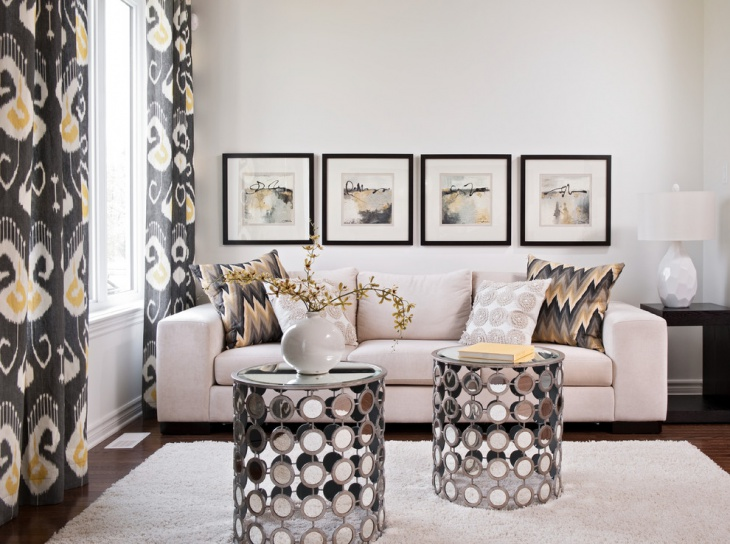 attractive mirrored coffee table