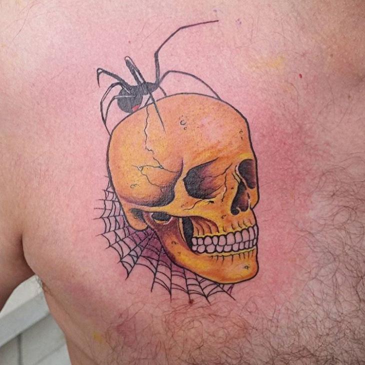unique skull tattoo design