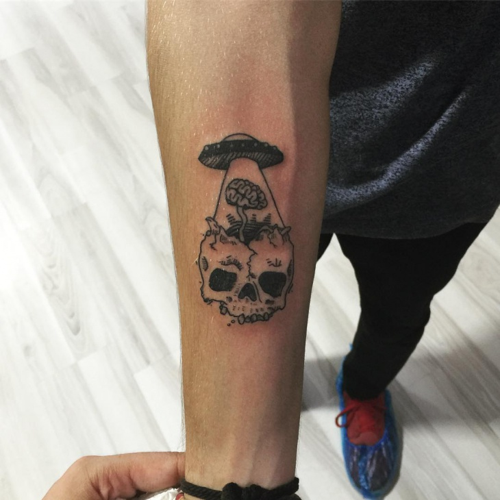 Small Skull Tattoo Design