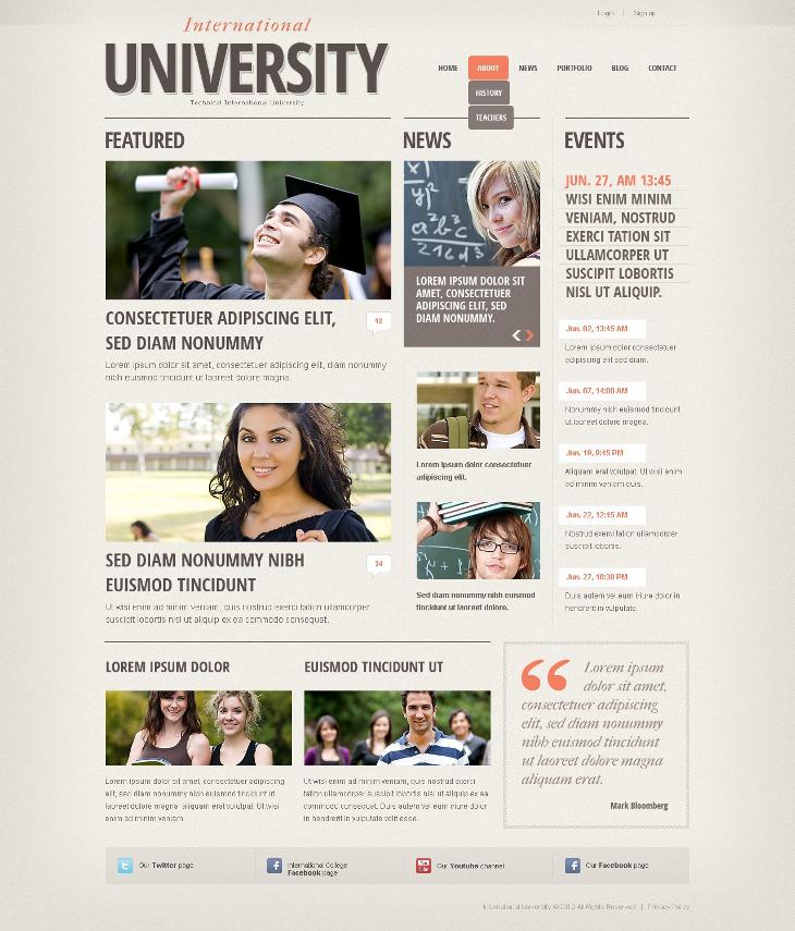 drupal university theme