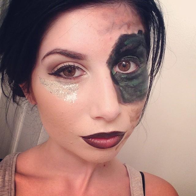 Camo Eye Makeup Design