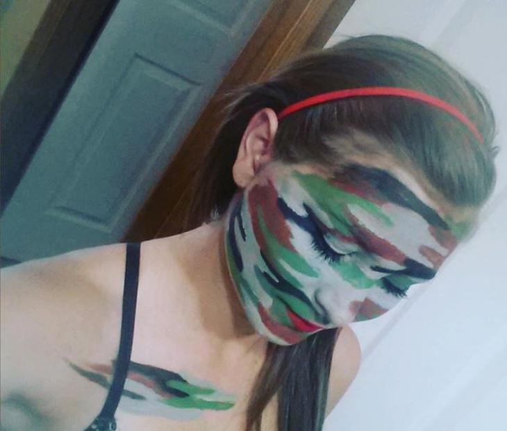 Camo Inspired Fall Makeup