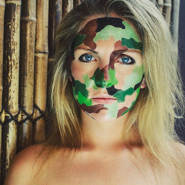 How To Do Army Camouflage Makeup
