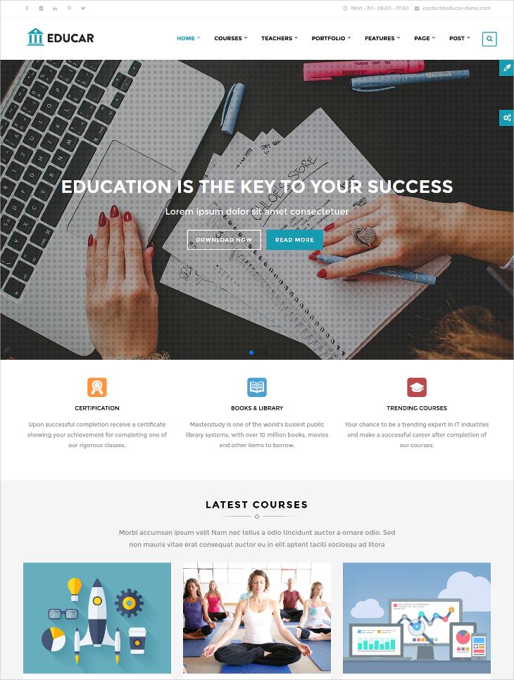 education courses drupal theme