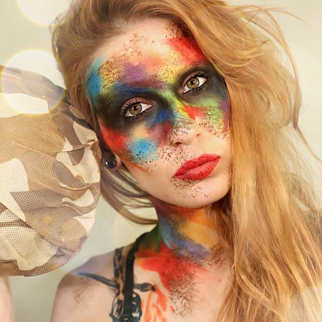 Colorful Camo Makeup