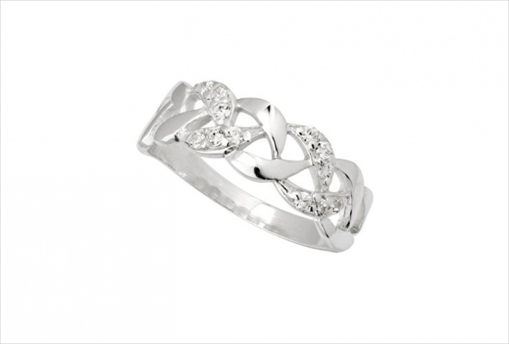 crystal knot ring model